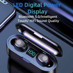 Không Dây Bluetooth V5.0 F9 TWS Chống Nước Không Dây Tai Nghe Nhét Tai Màn Hình Hiển Thị LED Với Micro Với 2000 MAh Công Suất