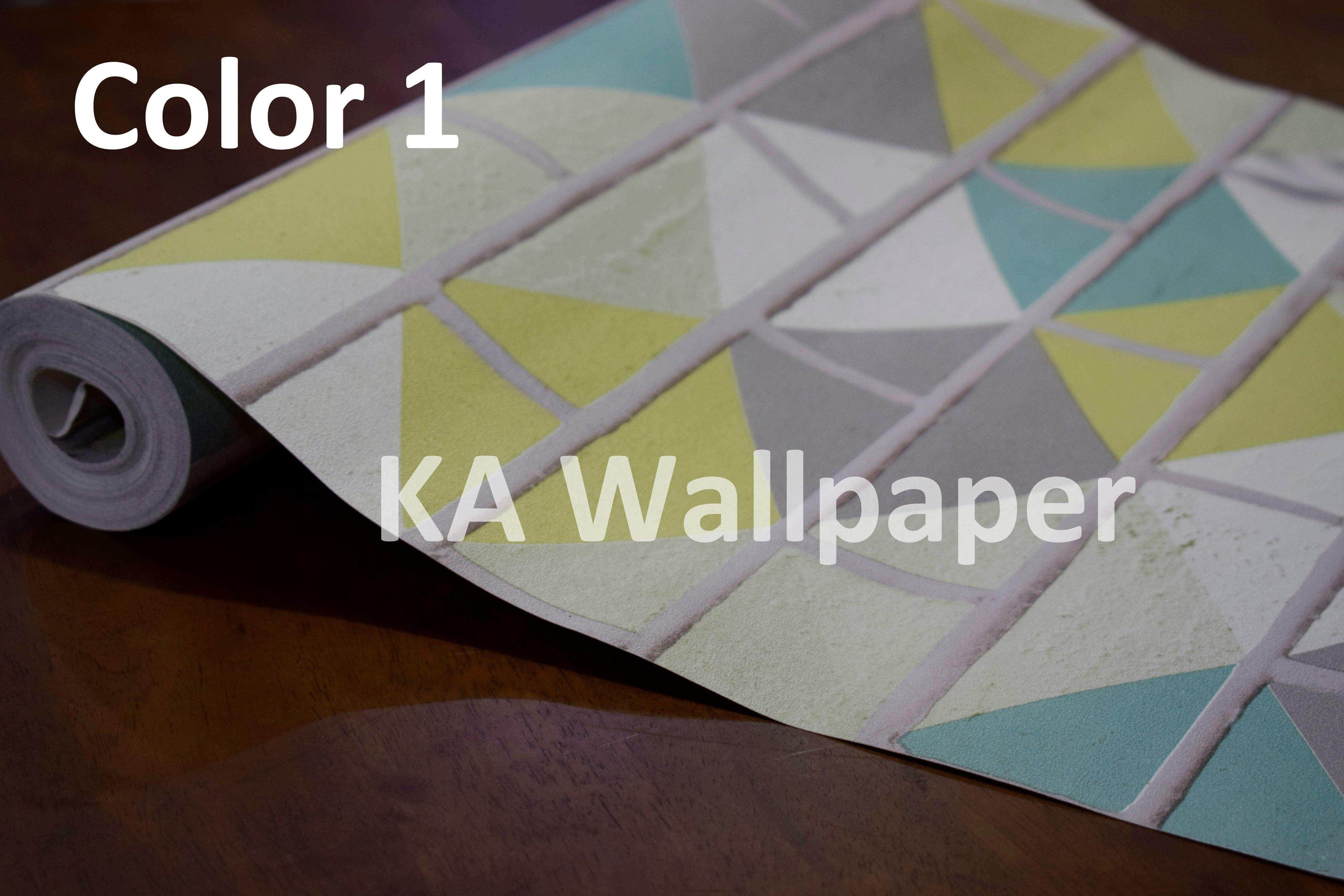 Wallpaper Geometric and Bricks pattern 2019