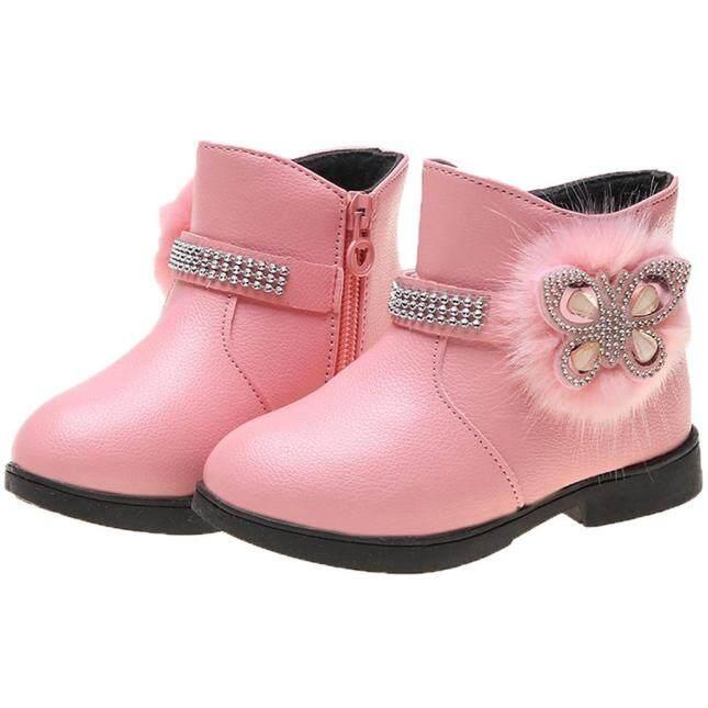 COD Giày Em Bé Cnb2c Trẻ Mới Biết Đi Trẻ Sơ Sinh Mùa Đông Zip Bé Công Chúa Giày Thời Trang Pha Lê Bốt Da Bán Chạy giá rẻ
