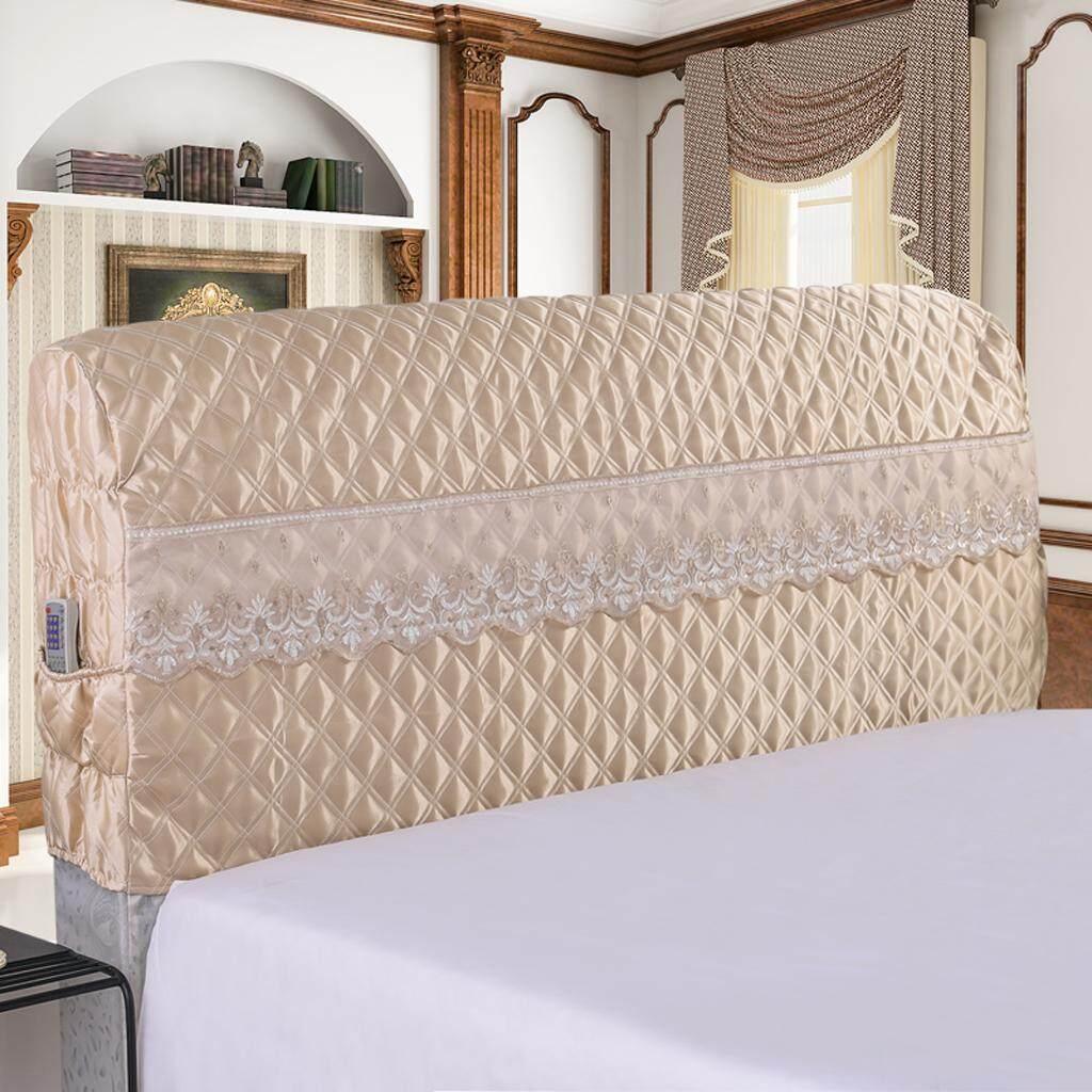 Perfk Bed Headboard Slipcover Protector Stretch Dustproof Cover Bedroom Deco