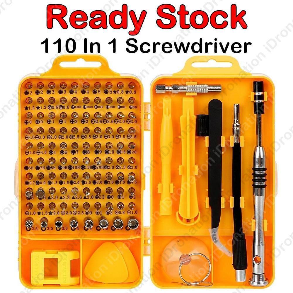 110PCS 110PC 110 In 1 Precision Magnetic Screwdriver Bits Set Repair Tool Kit Computer PC Mobile iPhone phone Bundle Multi-Function