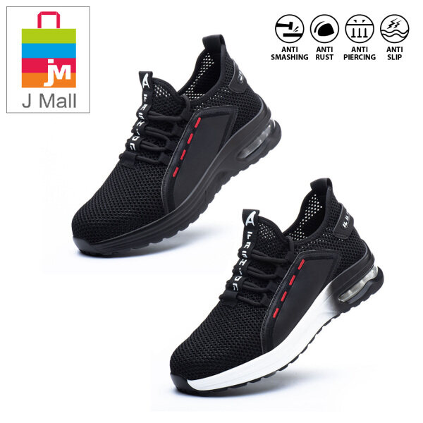 J MALL Safety Shoes Sport Shoes Wear-Resistant Anti-Smashing Anti-Piercing Safety Protective Shoes -795 BLACK / 796 BLACK WHITE / C9192 BLACK / C1030 BLACK