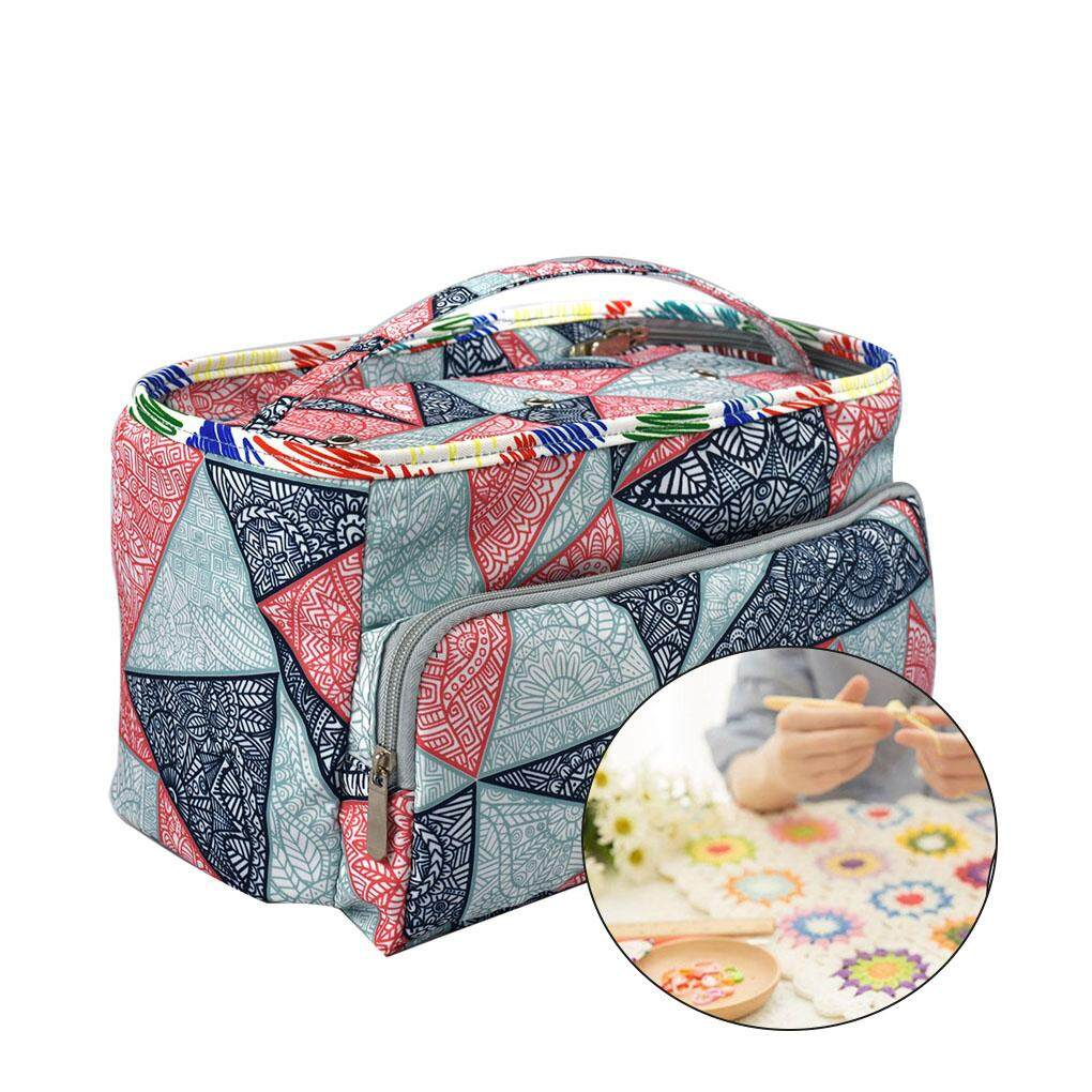 Knitting Bag Tote Yarn Storage Case for Crocheting Hook Sewing Needles Sightly