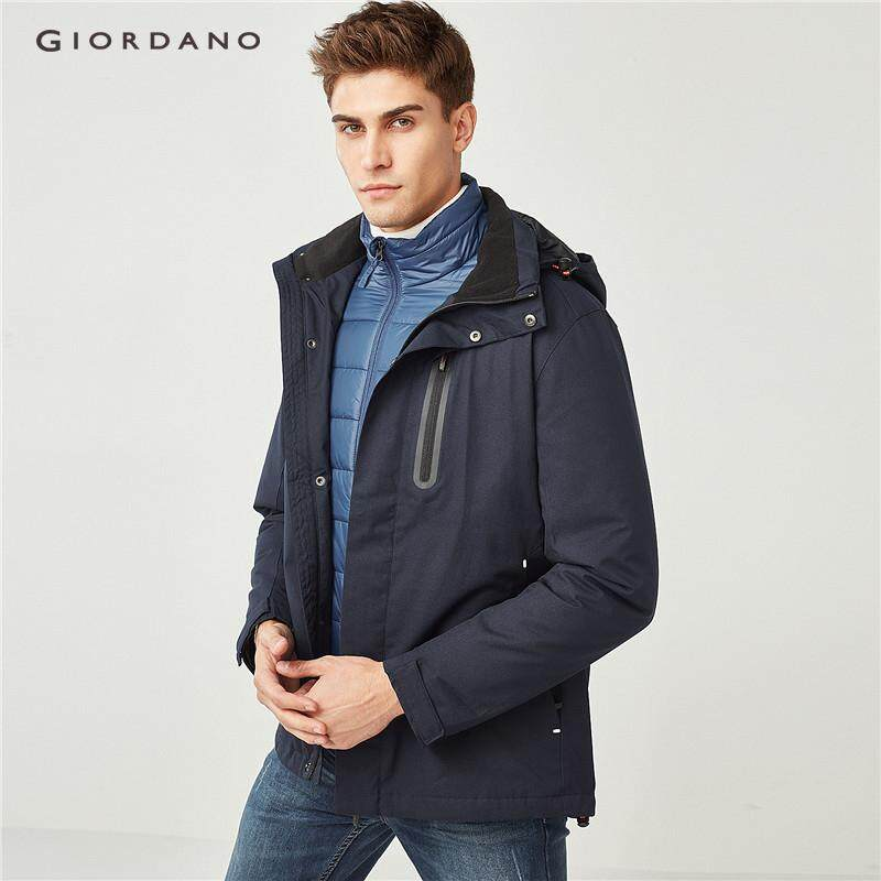 2bde4f5e6 China. Giordano Men 3-in-1 reflective pattern quilted detachable jacket  [Free Shipping]