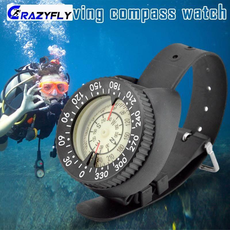 Crazyfly Jam Tangan Selam Kompas Desain Plastik Ringan Tahan Air Kompas Untuk Kolam By Crazyfly.
