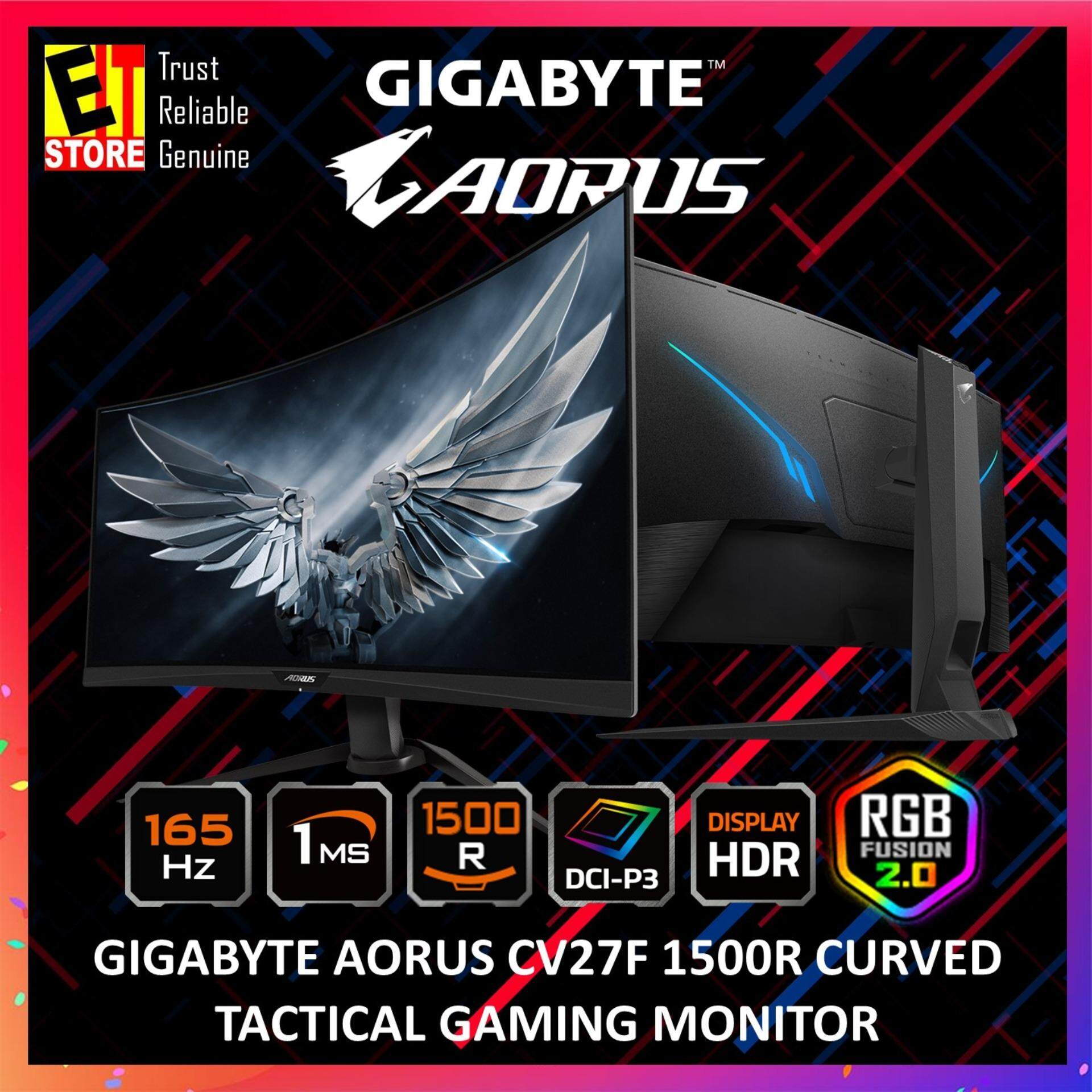 GIGABYTE AORUS CV27F 1500R CURVED TACTICAL GAMING MONITOR Malaysia