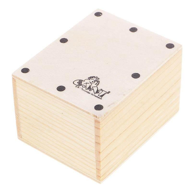 Sunnimix Bền Mini Cajon Cát Bình Lắc Gỗ Cầm Tay Trống Cho Ban Nhạc Phụ Kiện DIY 6.5X5.2X4.3 Cm