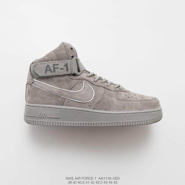 super popular c232b 94083 Nike Air Force 1 Mid  07 Suede AA1118-003 Mens Women Sneakers Gray