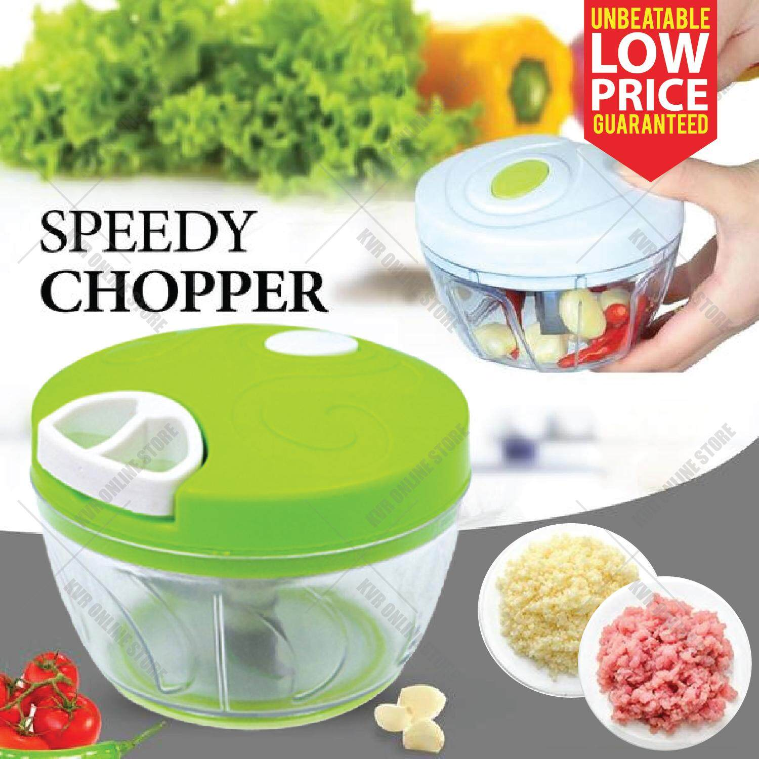 Manual Hand Pull Type Minced Speedy Chopper Garlic Meat Grinder Cutter By Kvr Online Store.