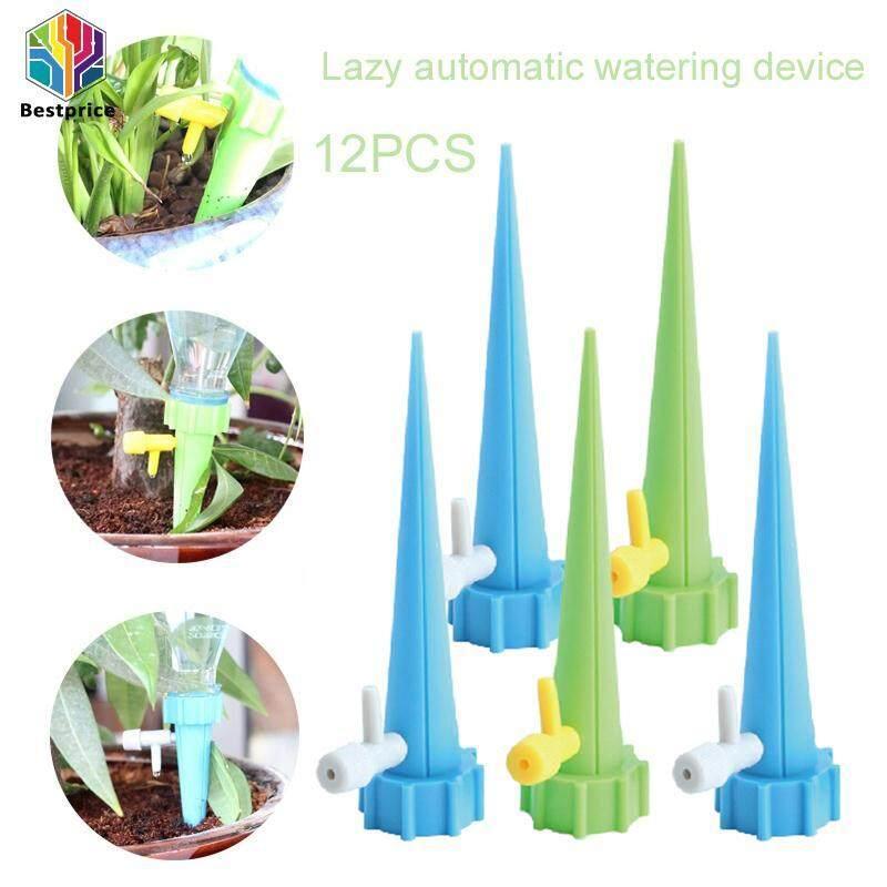 Bestprice Automatic Watering Device Self Watering Watering Flower Tool Durable Plastic 12PCS/Set Plant Watering Sprinklers Earth