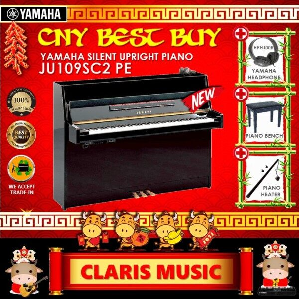 YAMAHA SILENT UPRIGHT PIANO (MODEL: JU109SC2 PE) NEW UNIT! Malaysia