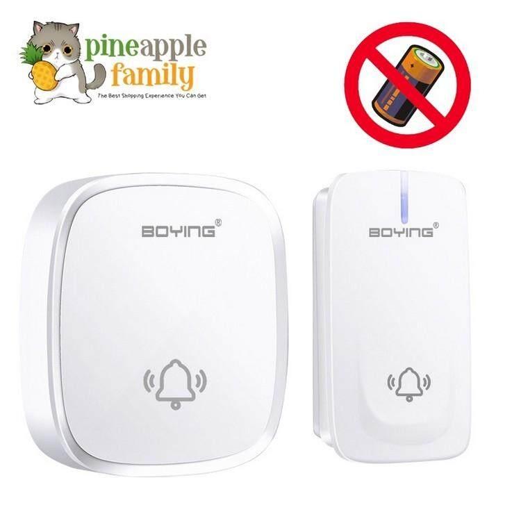 BOYNG New self powered EU&UK Plug Wireless Doorbell NO battery Waterproof 150M range 110-220V smart Door Bell 1 button 1 receiver for home and office