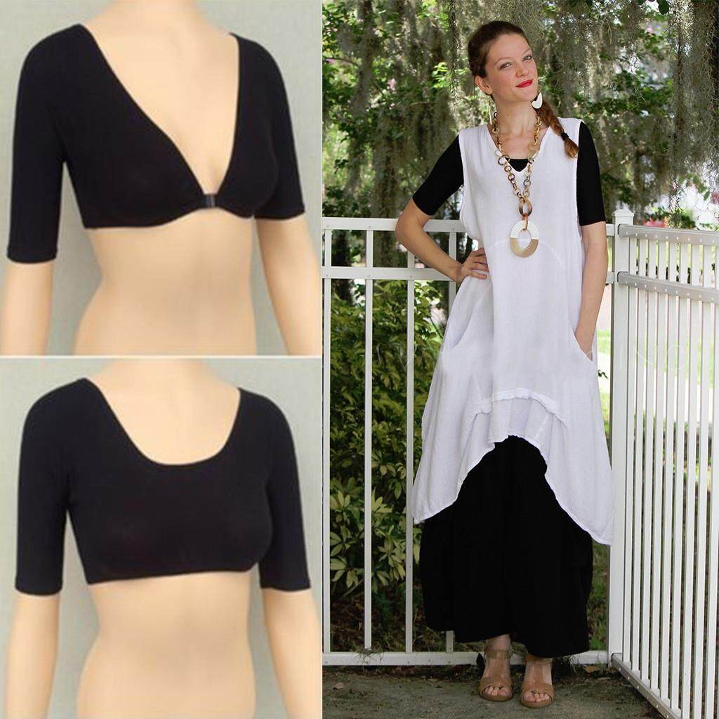 8312898d86d29 GUO New Plus Size Seamless Arm Shaper Short Cropped Navel Underwear Cardigan  Hot