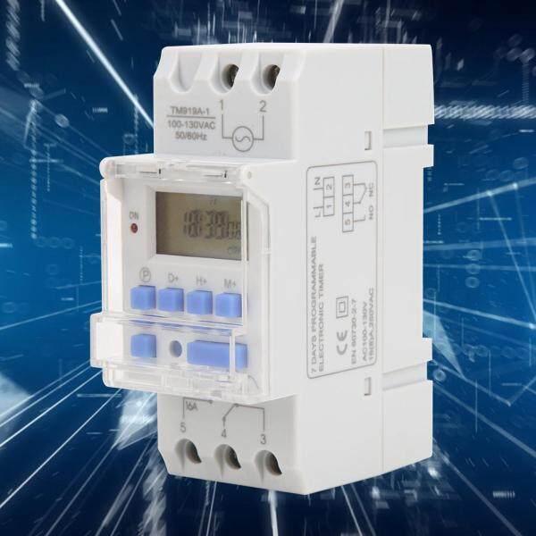 Công Tắc Hẹn Giờ 12/24 Giờ AC 16A Hàng Tuần 100-130V Điều Khiển Bật Tắt LCD Rơle Thời Gian Lập Trình giá rẻ