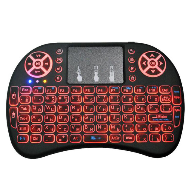 Ready Stocks In Malaysia! Rechargeable i8 English 2.4GHZ Mini Backlight Keyboard Wireless Air Mouse Gaming Qwerty Touchpad Handheld for Smart TV Android Box PC Malaysia