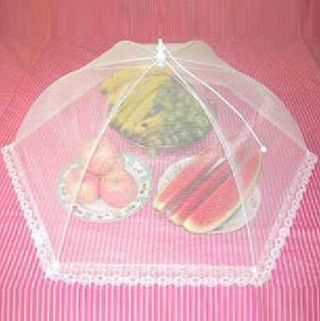 1pc Cheap Foldable Lace Food Cover Umbrella Anti Fly Mosquito Lace Mesh Kitchen Outdoor Picnic Food Fruit Cover Party Mesh Net.