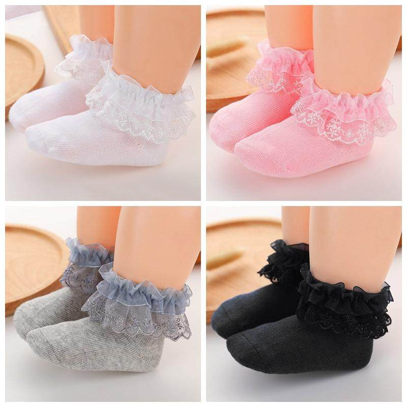 6b6aabef4 4 Pairs Baby Girls Socks 6-12 Months Lace Bowknot Girls Socks Princess Girl  Socks