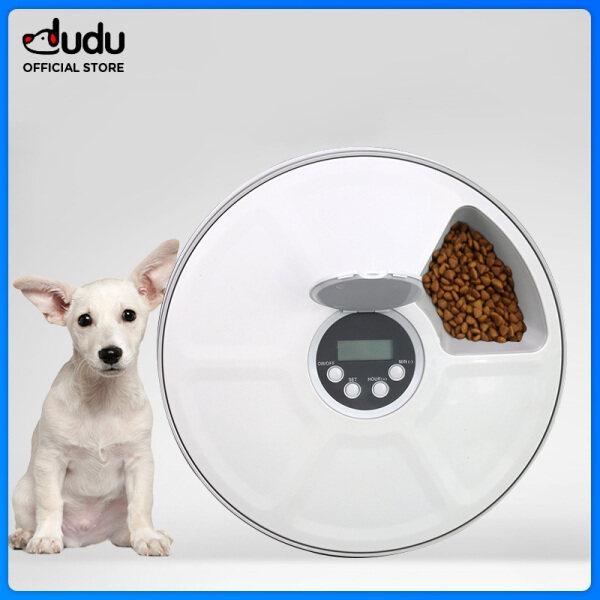 Máy Cho Chó Và Mèo Cưng Dudu Ăn Tự Động 6 Thanh, Thiết Bị Cho Ăn Tự Động Hẹn Giờ Thông Minh