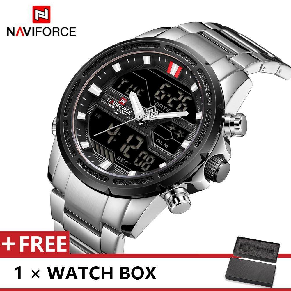 NAVIFORCE 9138 Top Luxury Brand Watch For Man Fashion Sports Men Quartz Watches Trend Wristwatch Gift For Male jam tangan lelaki Malaysia