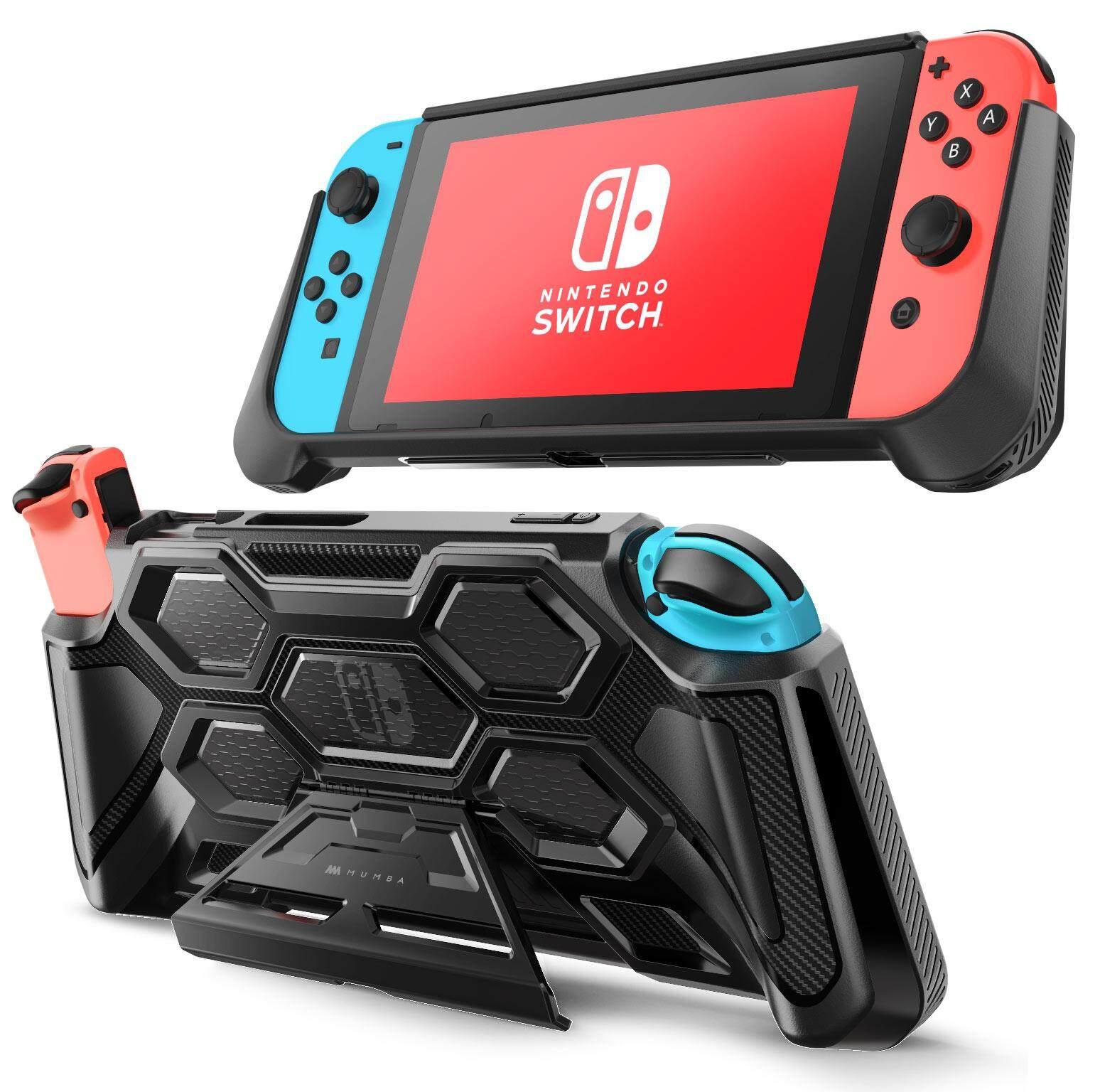 Giá Mumba Ốp Lưng Bảo Vệ cho Máy Nintendo Switch Nặng Cầm dành cho Máy Nintendo Switch kèm Thoải Mái Đệm Tay Cầm & chân đế