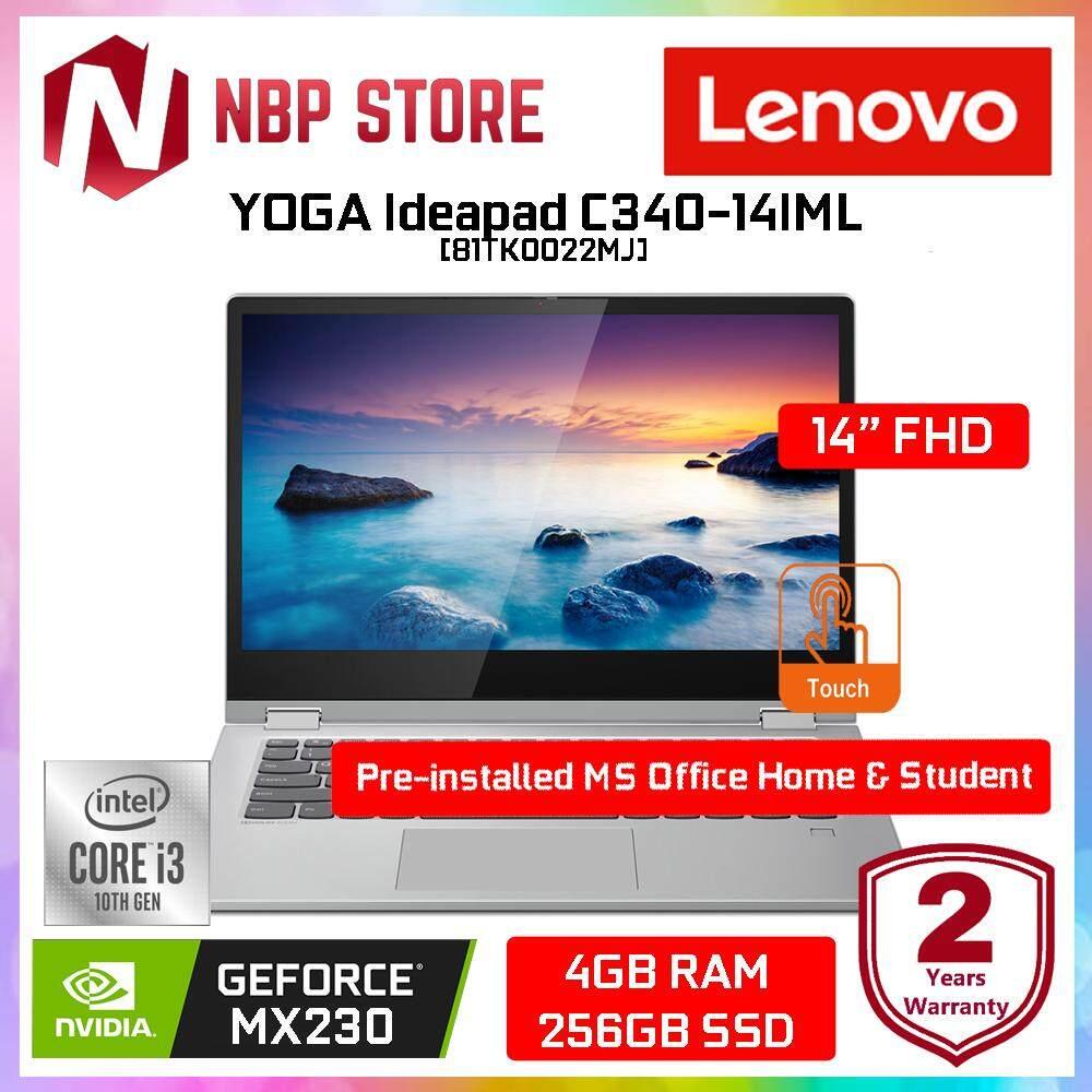 Lenovo Ideapad C340-14IML 81TK0022MJ 14  FHD IPS Touch Laptop Platinum ( i3-10110U, 4GB, 256GB, MX230 2GB, W10) Malaysia