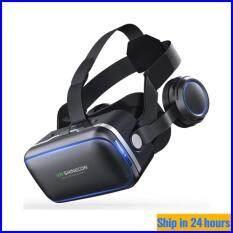 [Amorus VR] SHINECON Kính 3D VR G04E 6 Thế Hệ Tai Nghe Thực Tế Ảo Có Tai Nghe Dành Cho Điện Thoại 4.0 – 6.0 Inch