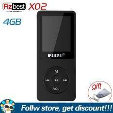 RUIZU máy nghe nhạc chính hãng Walkman X02 mini siêu mỏng phiên bản tiếng Anh thiết kế di động với bộ nhớ 4/8/16GB và màn hình 1.8 inch hỗ trợ phát đài FM/ ghi âm/ video/ e-book – INTL