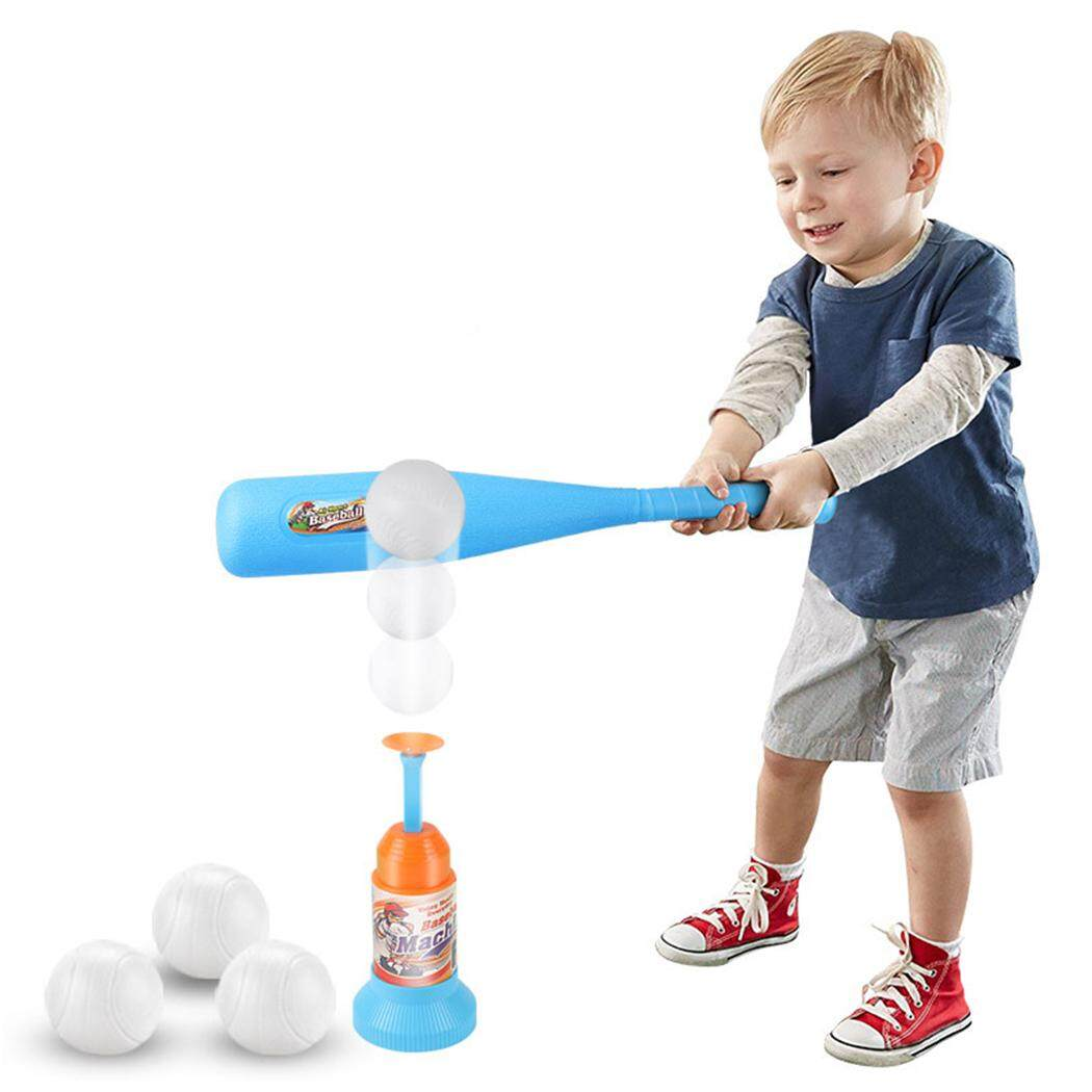 Baseball Set Toy Training Automatic Launcher Baseball Bat Toy Baseball Game Set By Jiangxing.