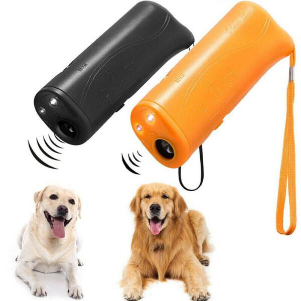 Hot LED Light Dog Repellent Thiết Bị Huấn Luyện Thú Cưng Bền Thiết Bị Repeller Kiểm Soát Siêu Âm Chống Chó Sủa 3 Trong 1 Chó Chống Sủa