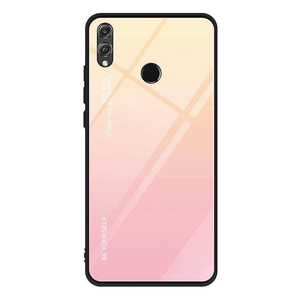 BluShine Honor 8X Glass Case,Huawei Honor 8X Case with Soft TPU Edge and  Tempered Glass Back Cover,Color Gradation,for Huawei Honor 8X