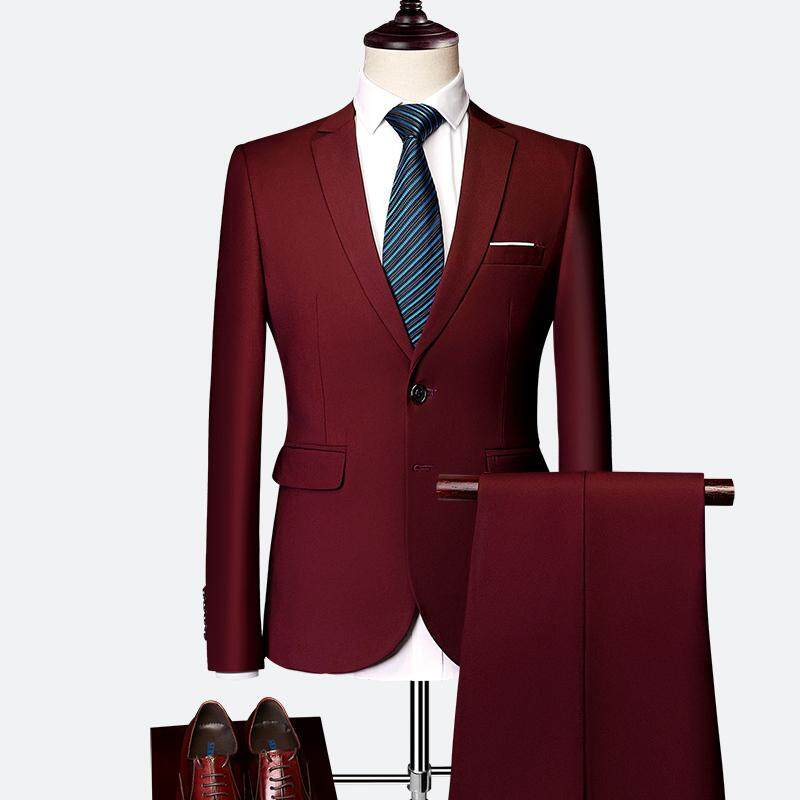 7603731c406b Two Piece Suit For Men One button Suits For Wedding Tuxedo Slim Fit Mens  Suits With
