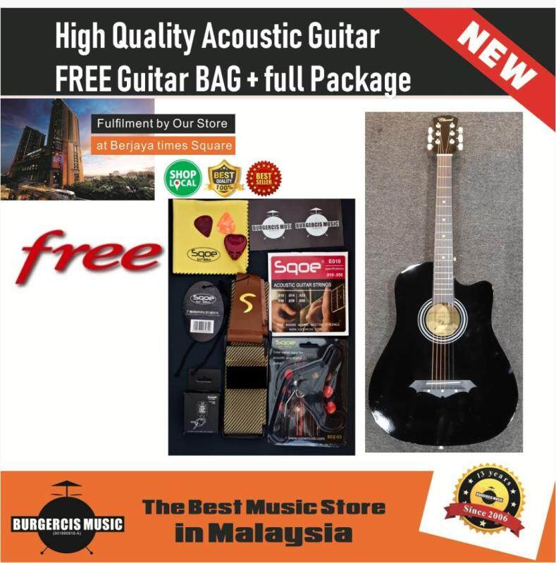 High Quality Acoustic Guitar 38 Inch FREE Guitar Bag + Full Package Malaysia