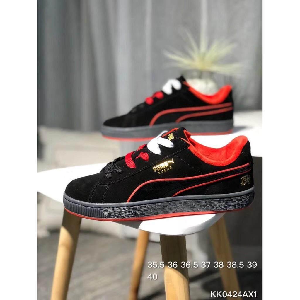 94810bd88cdb HOT Sale PUMA Suede Classic x FUBU Shoes Fashion Shoes Casual Shoes Black  Red