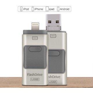 Hàng Sẵn Có + Miễn Phí + COD Tốc Độ Nhanh iPhone OTG IOS Android USB 3 Trong 1 Khi Di Chuyển Bộ Nhớ Ngoài thumbnail