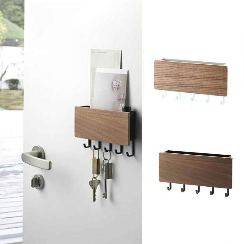 Wooden Home Clothes Hook Rack Wall Mount Key Storage Hanger Holder Decor 1pc