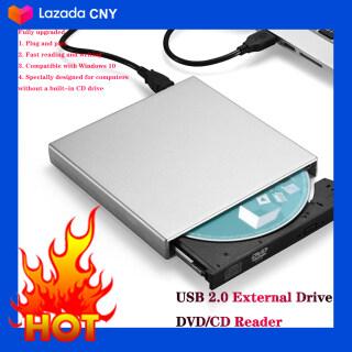 USB Bên Ngoài CD-RW Đốt DVD Đầu Đọc CD Nghe Ổ Đĩa Quang Cho Máy Tính Laptop thumbnail