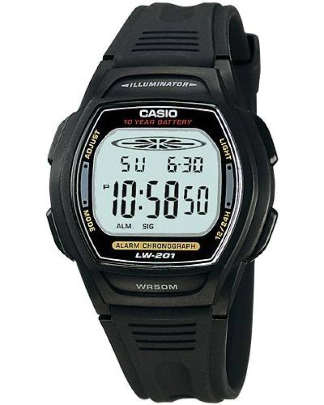 GET IT NOW! CASIO LW-201-1AVDF STANDARD digital easy-reader resin strap watch Malaysia