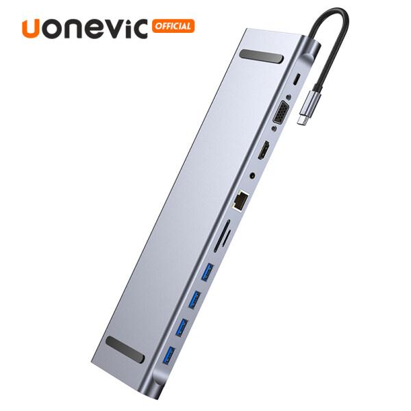 Bảng giá Uonevic HUB USB C 11 Trong 1 Sang HUB USB Loại C, Dock Chuyển Đổi RJ45 USB C HAB 3.0 Tương Thích HDMI 3 0 Đối Với MacBook Pro Máy Tính Xách Tay Splitter USB HUB Phong Vũ