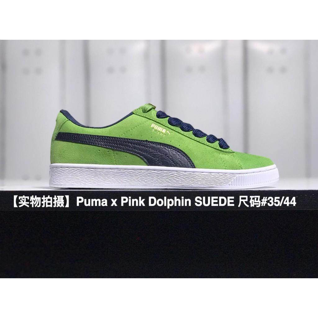 0e33d11a0ede Brand original Pumas x Pink Dolphin SUEDE 50th green men women sport  skateboard shoe