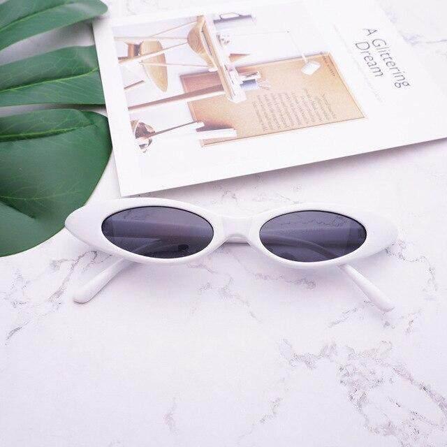 xinzenbhd Small Oval Sunglasses Women Retro Cat Eye Clear Lens Ladies Sunglasses 2019 Brand Designer Glasses Eyewear Men Lunettes Femme