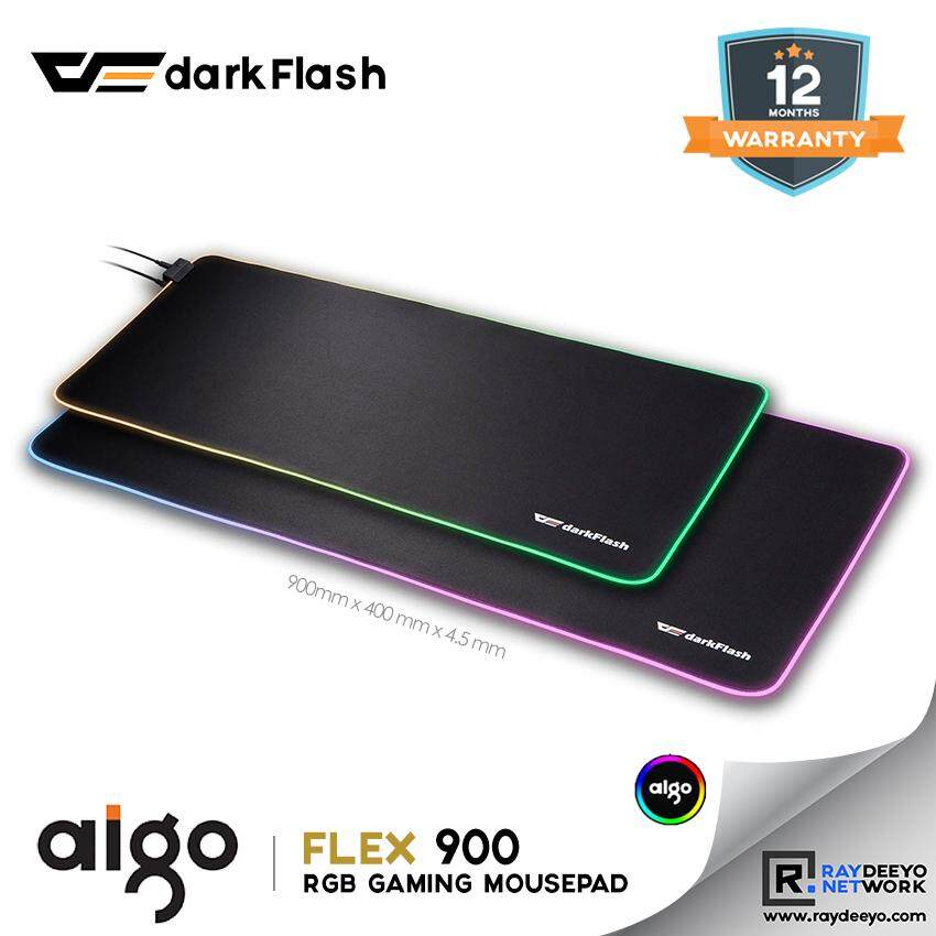 Aigo darkFlash Flex 900 RGB Gaming Mousepad [Non-Slip Base] NEW Malaysia