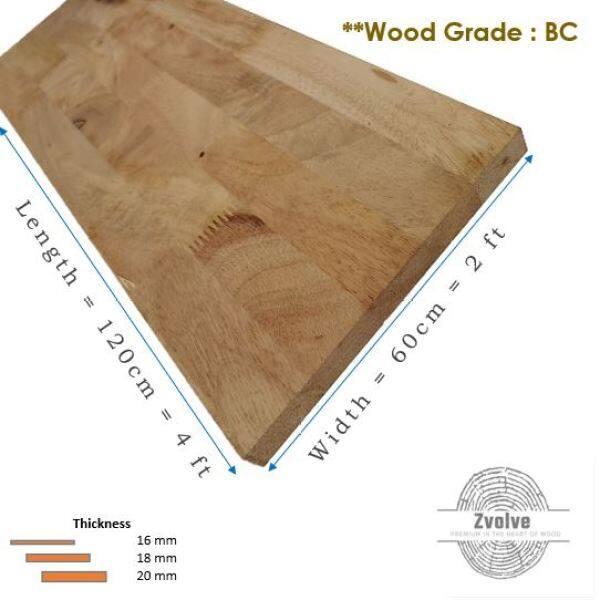 Rubber Wood Board 16mm x 60cm x 120cm (Grade BC) | Kayu Papan | Kayu Getah | Papan DIY | Papan Getah |