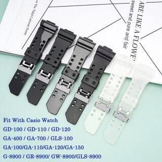 Dây Đồng Hồ Silicon 16Mm, Phù Hợp Với Casio G Shock Thay Thế Dây Đồng Hồ Đeo Tay Cao Su Chống Nước Kiểu H Mới Cao Su Dây Đeo Đồng Hồ Phụ Kiện thumbnail