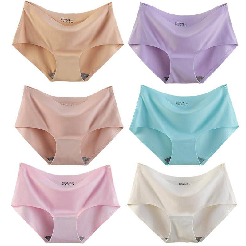 2002a1e84d 6 loaded seamless underwear female ice silk one-piece waist women  comfortable breathable cotton briefs