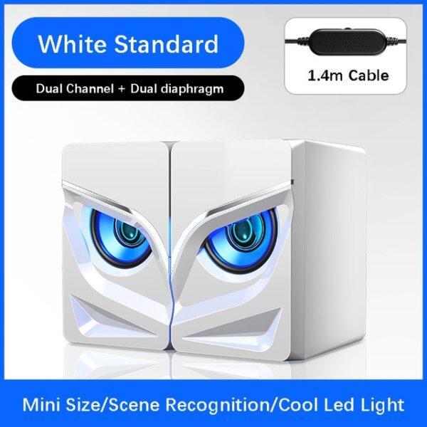 PC Gaming Speakers  2.0 Channel Stereo Desktop Computer Sound Bar Speakers with Compact Maneuverable Size Bluetooth Speaker 2020 Malaysia