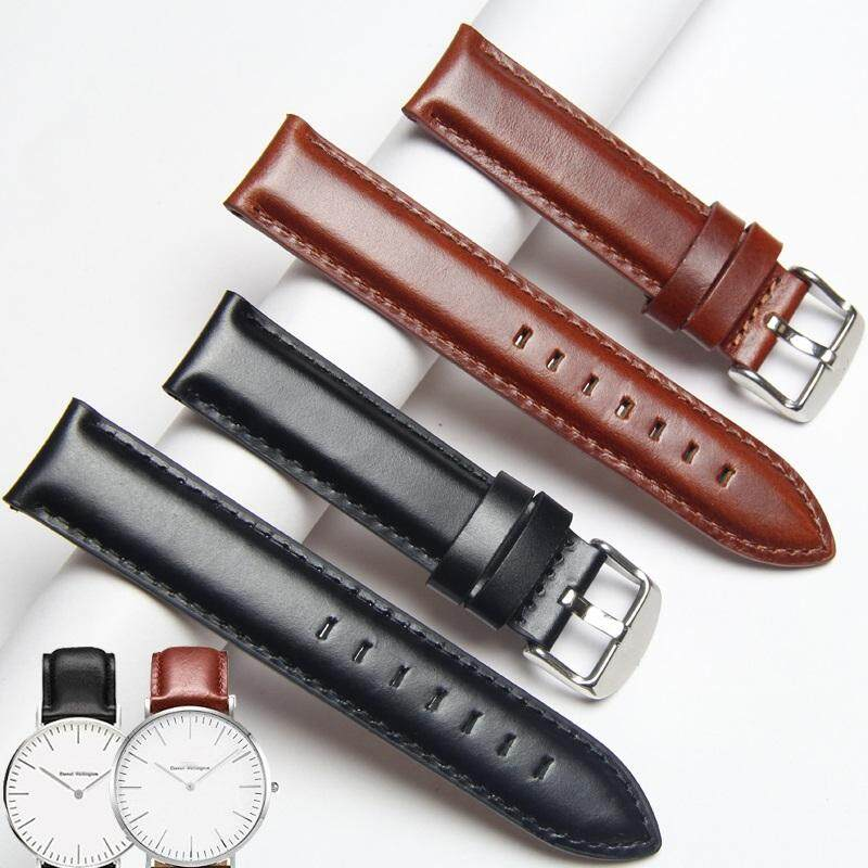 18mm Cowhide Oil-Tanned Leather Watch Band Replacement Watch Strap 36mm Case Steel Buckle Calf Leather Watch Strap Quick Release Band Malaysia