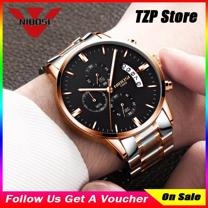 TZP Store Hot Sale NIBOSI Men Business Classic Waterproof Watches Luxury Famous Top Brand Mens Fashion Casual Wrist Watch Military Quartz Wristwatches 2309 - intl Malaysia