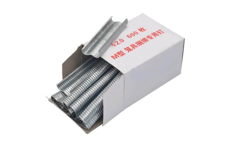 millionhardware - (600pcs) 2.0mm M Forceps Staple Nail for Animal Cage Plier Hog Ring Plier