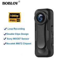 BOBLOV Camera Thân Máy Mini W1 1080P + Máy Quay Video, Máy Ghi Âm Vòng Chụp Nhanh Tem Ghi Thời Gian Dành Cho Bài Giảng, Ghi Âm Bài Phát Biểu/Phỏng Vấn