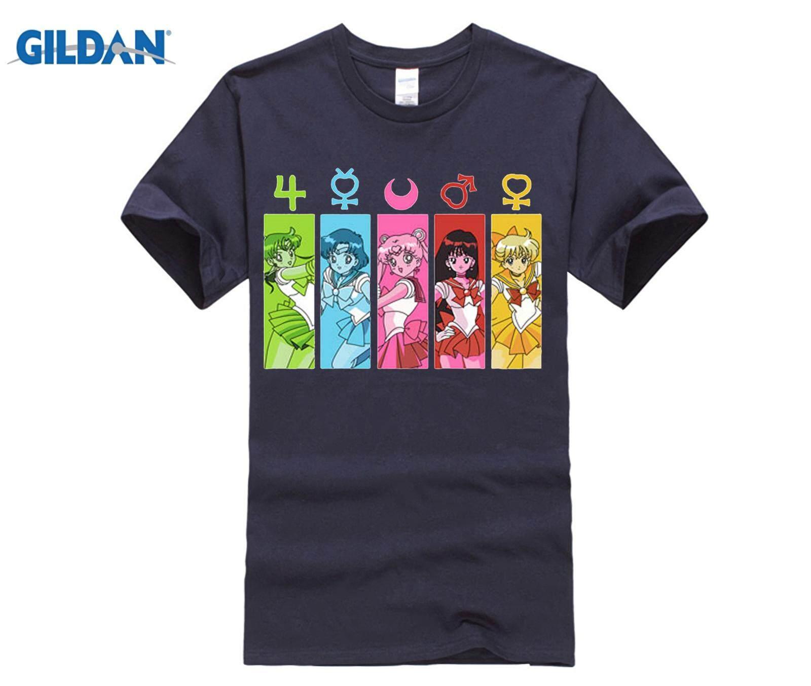 d8f1e9cad2 XS Anime Sailor Moon Adult T shirt cotton o-neck Summer t-shirt Men